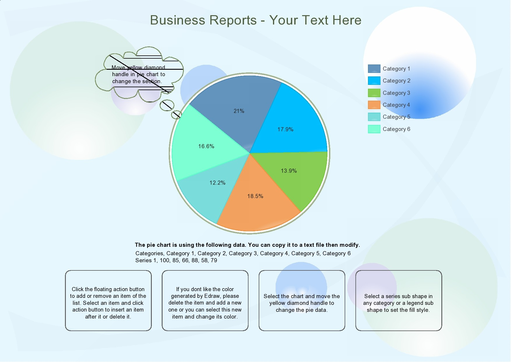 Free pie chart template 04