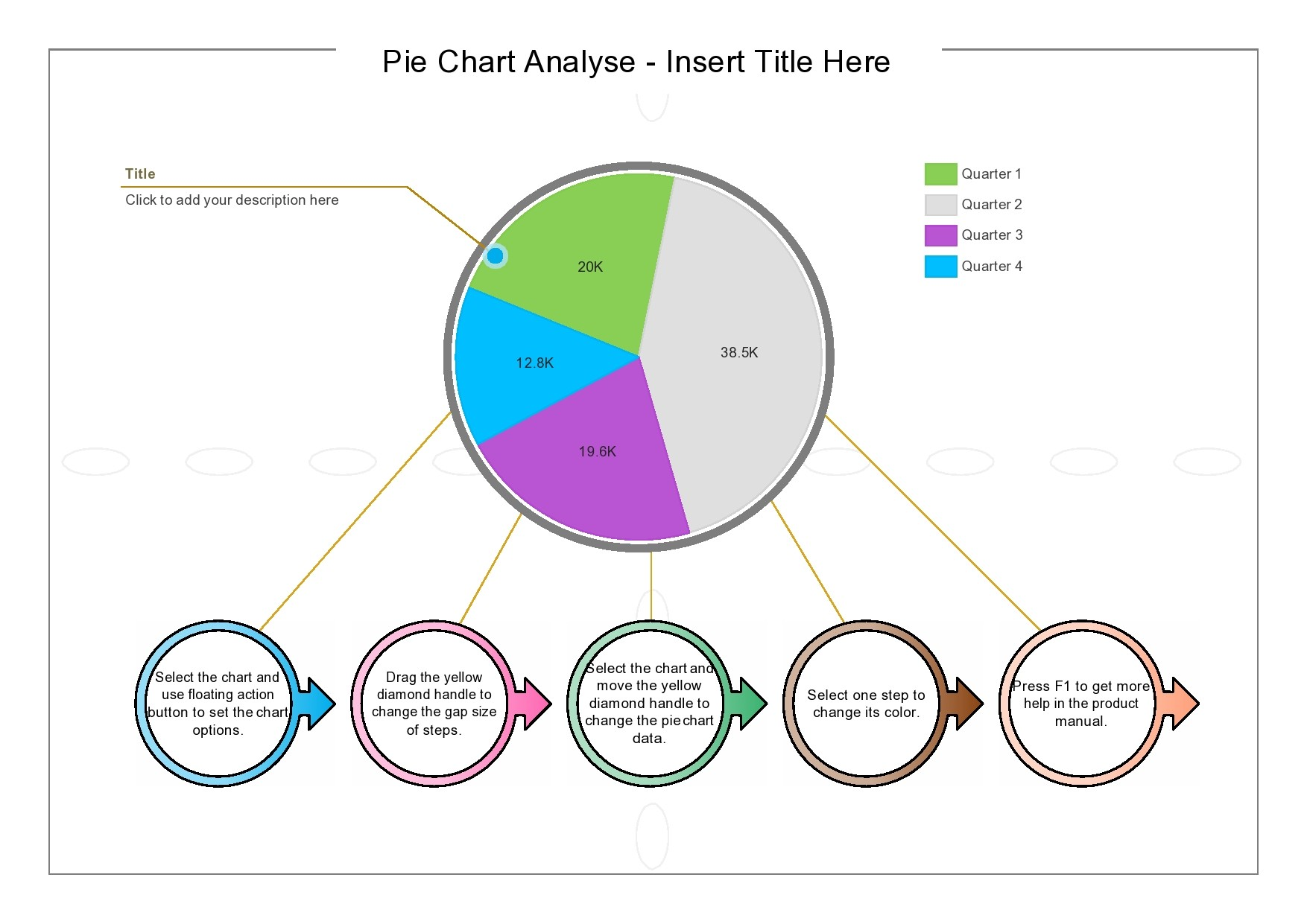 Free pie chart template 07