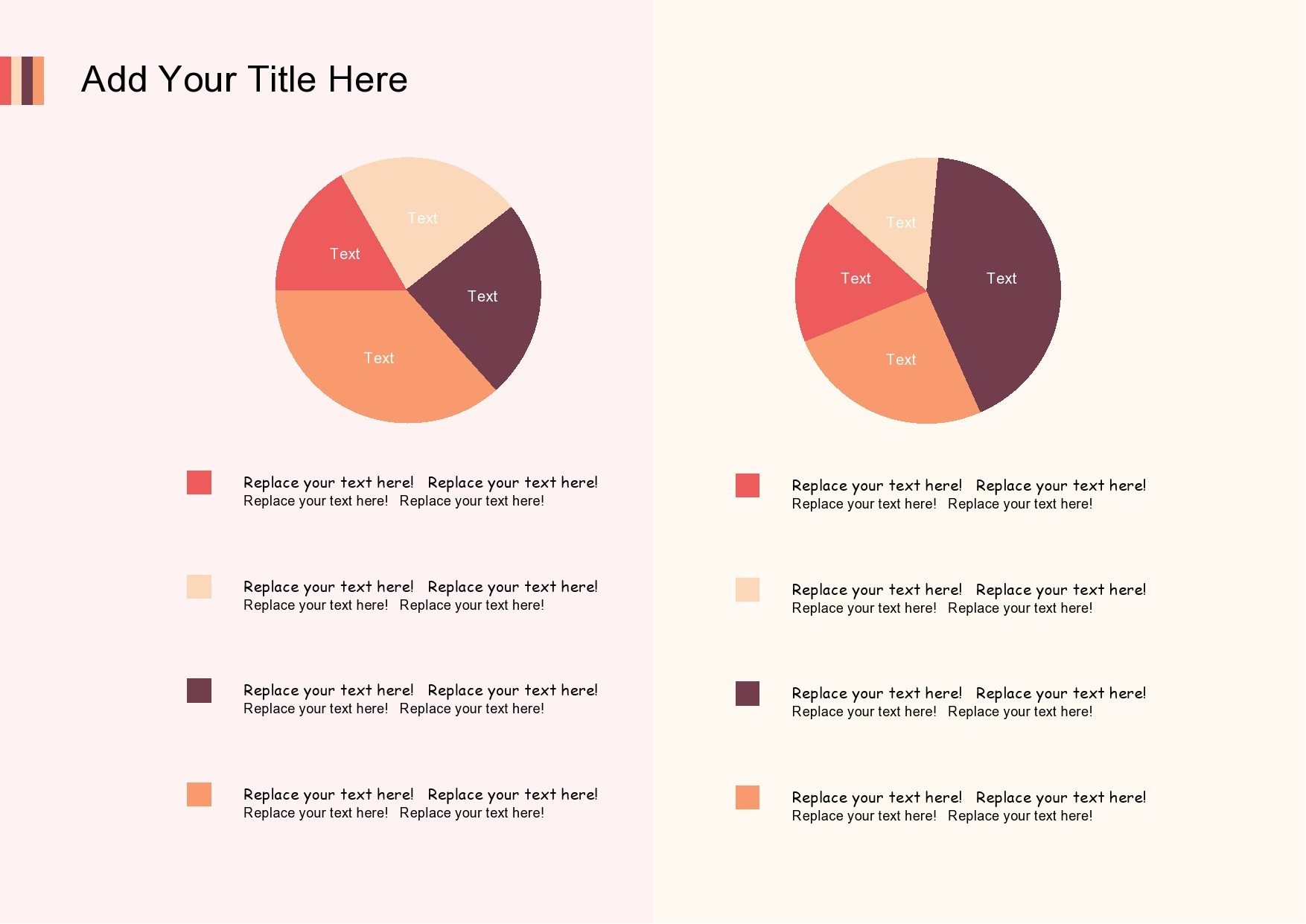 Free pie chart template 09
