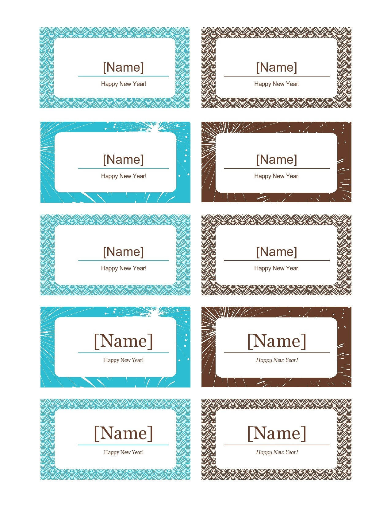 Free place card template 05
