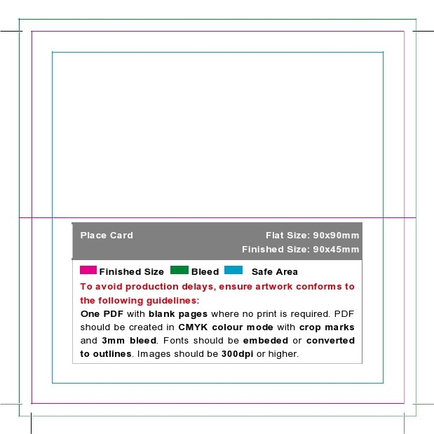 Free place card template 08
