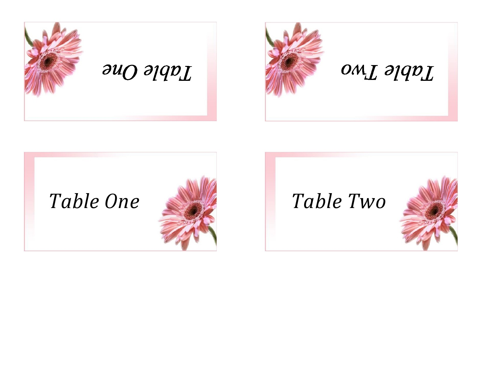 Free place card template 11