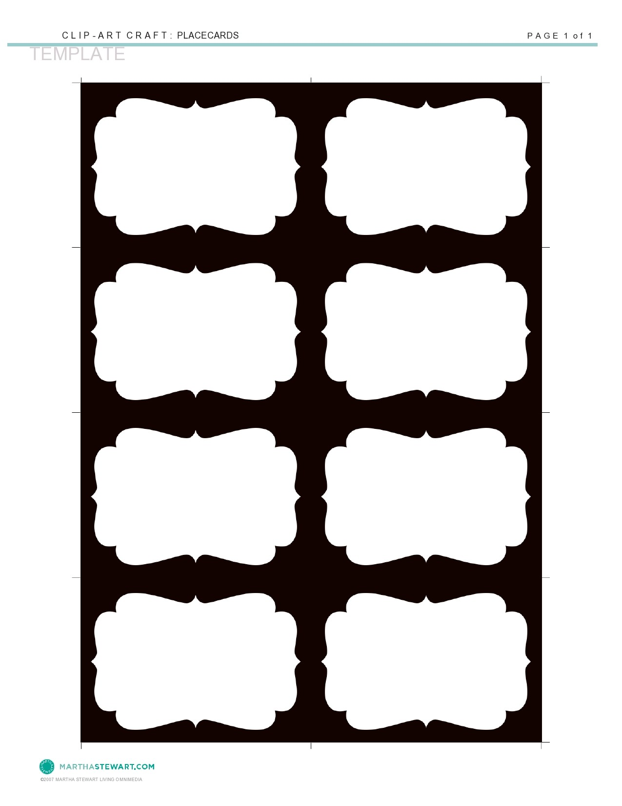 Free place card template 12