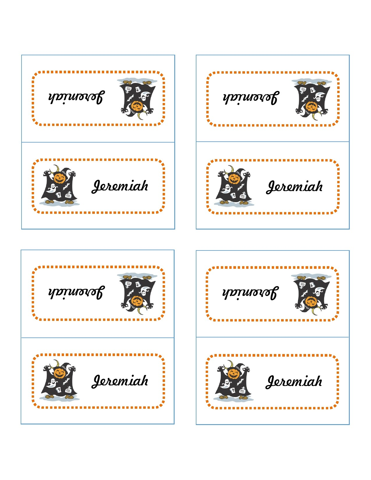 Free place card template 16