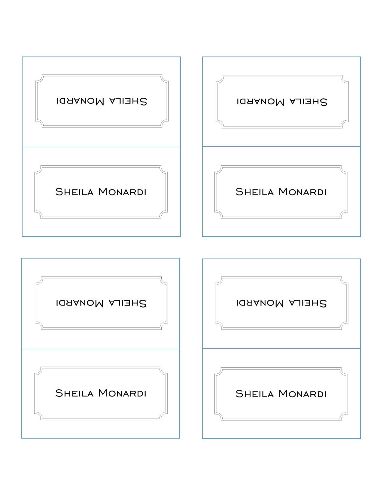 15 Printable Place Card Templates (Free) ᐅ TemplateLab