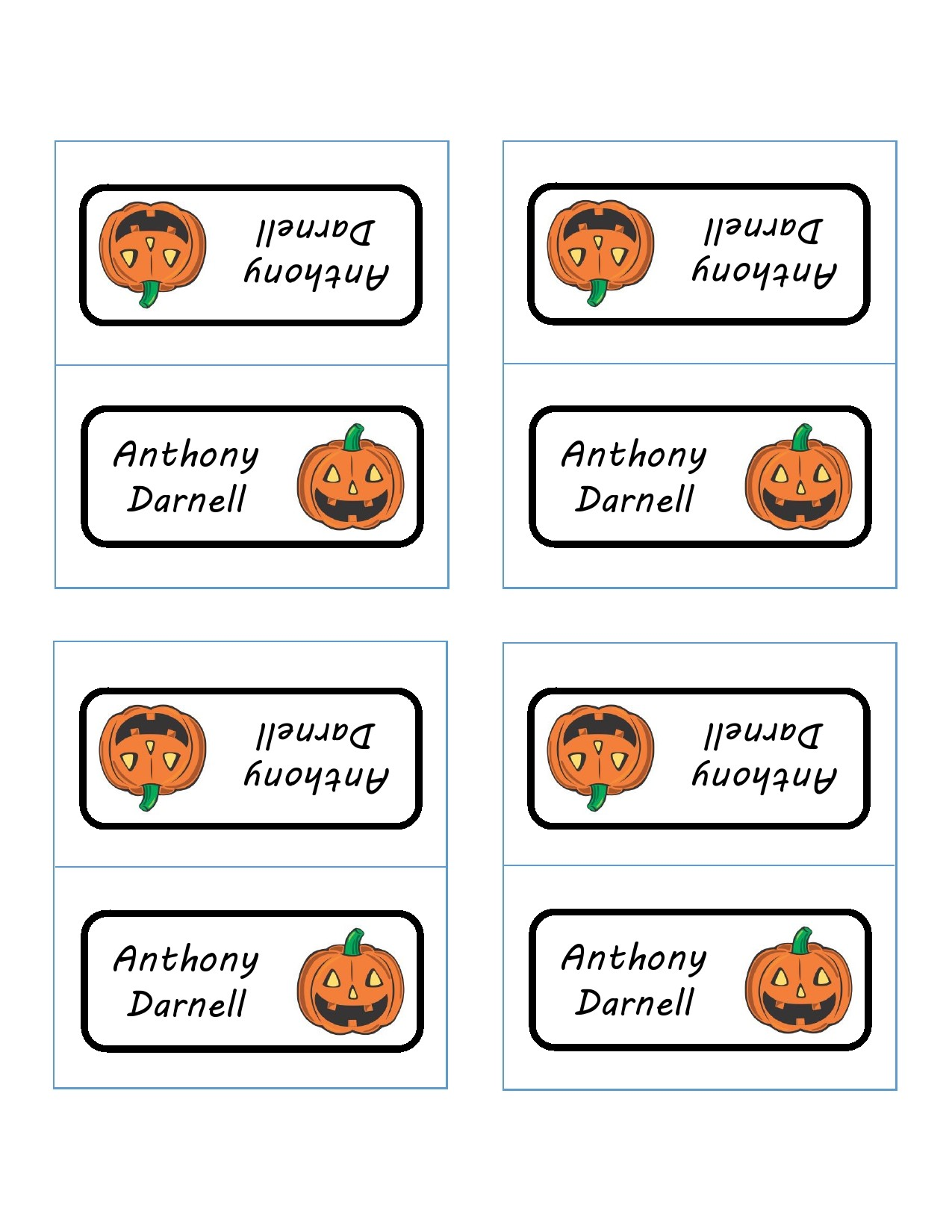 Free place card template 19