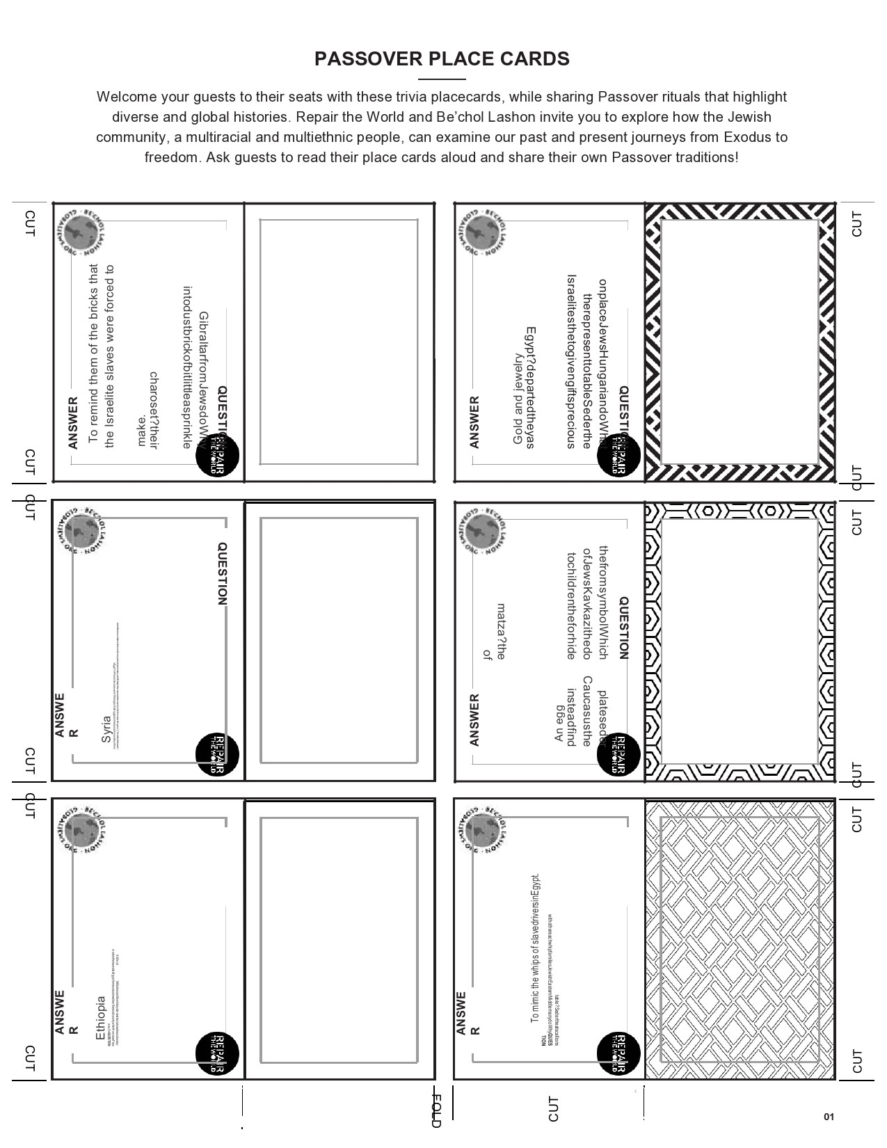 Free place card template 33
