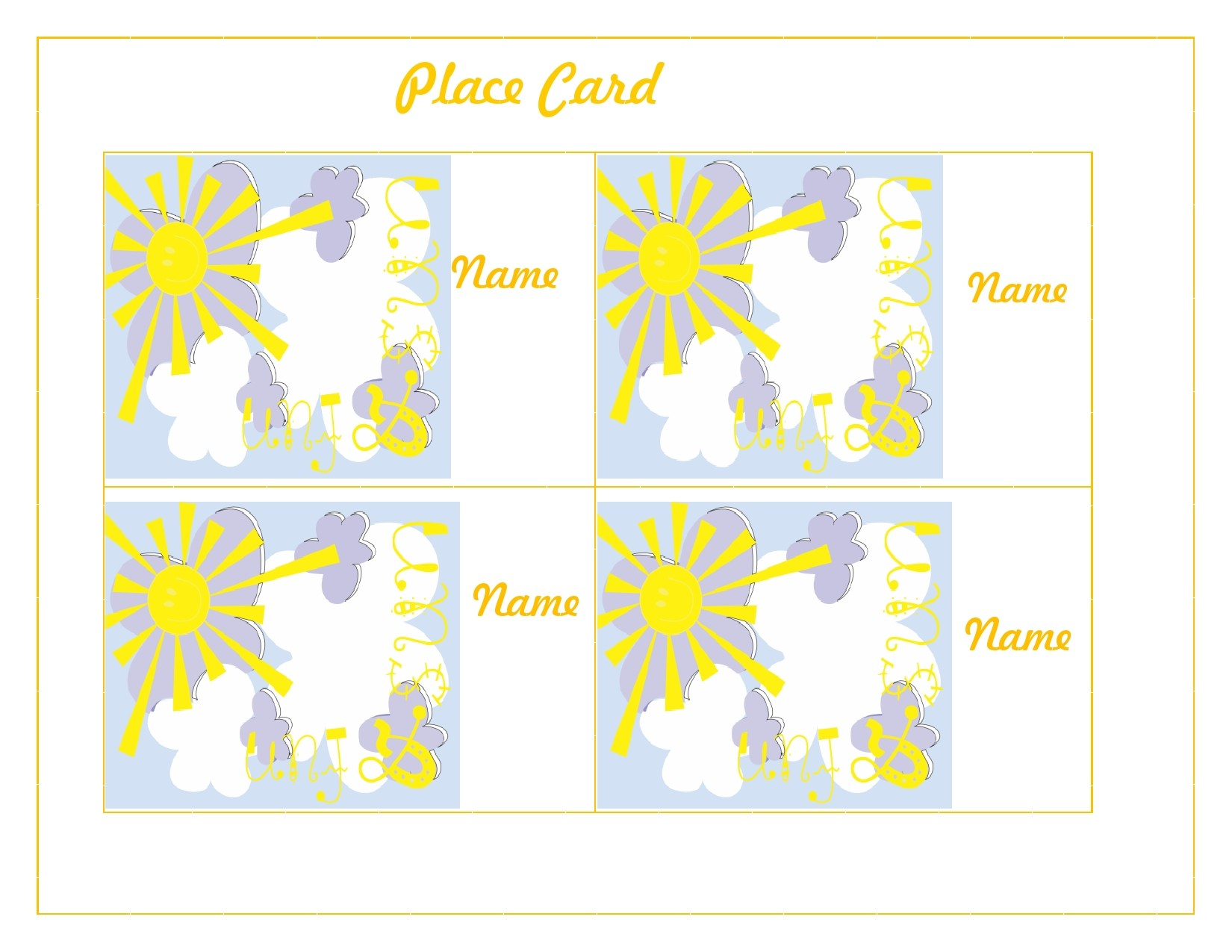 Free place card template 39