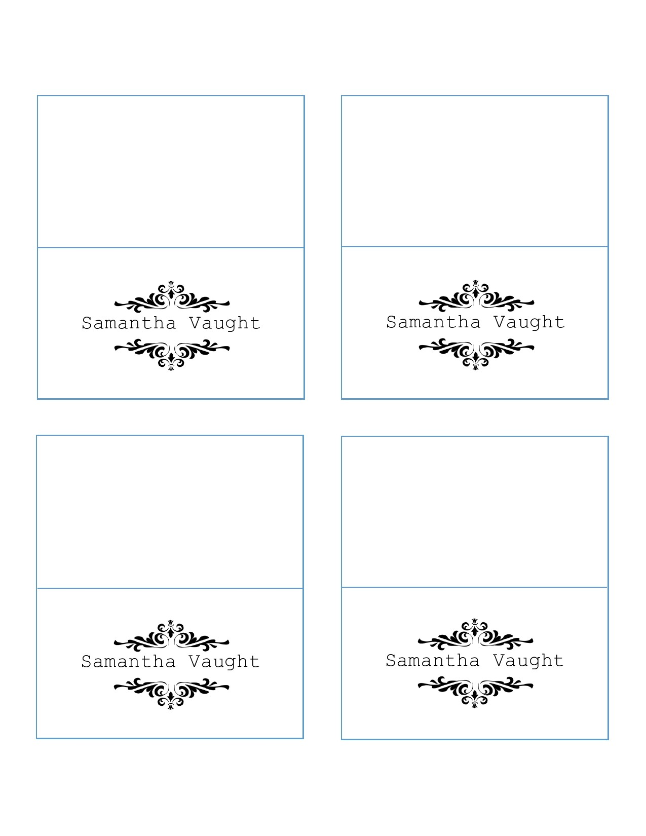 Free place card template 43