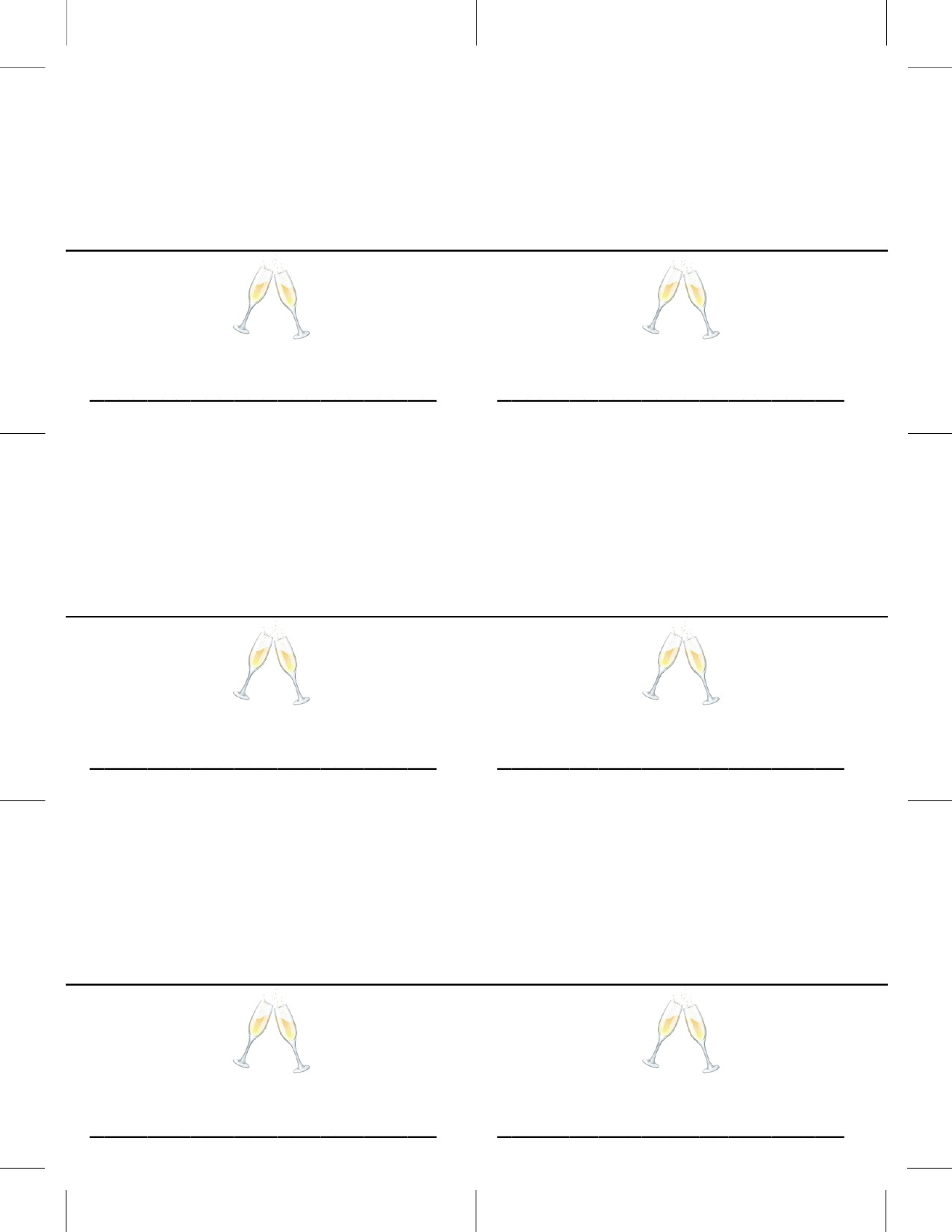 Place Card Templates 21 Per Sheet Regarding Free Template For Place Cards 6 Per Sheet