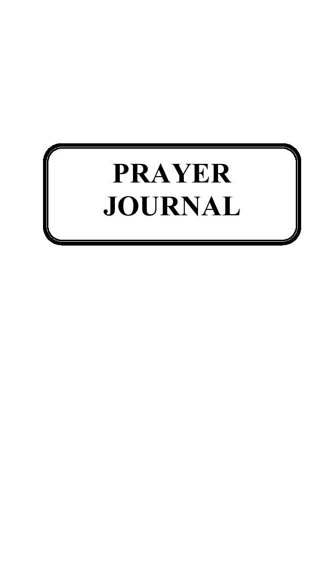 Free prayer journal template 02