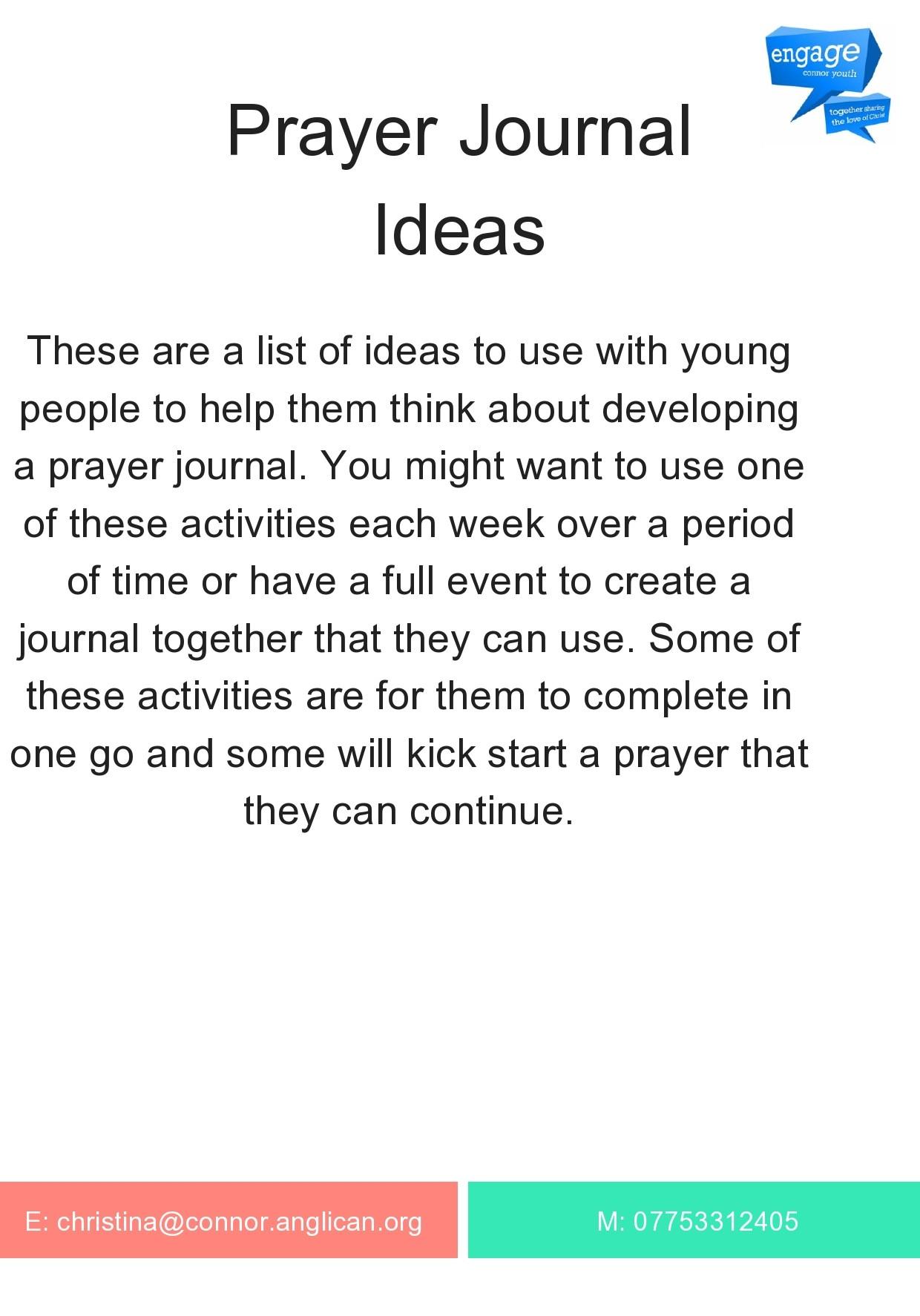 Free prayer journal template 10