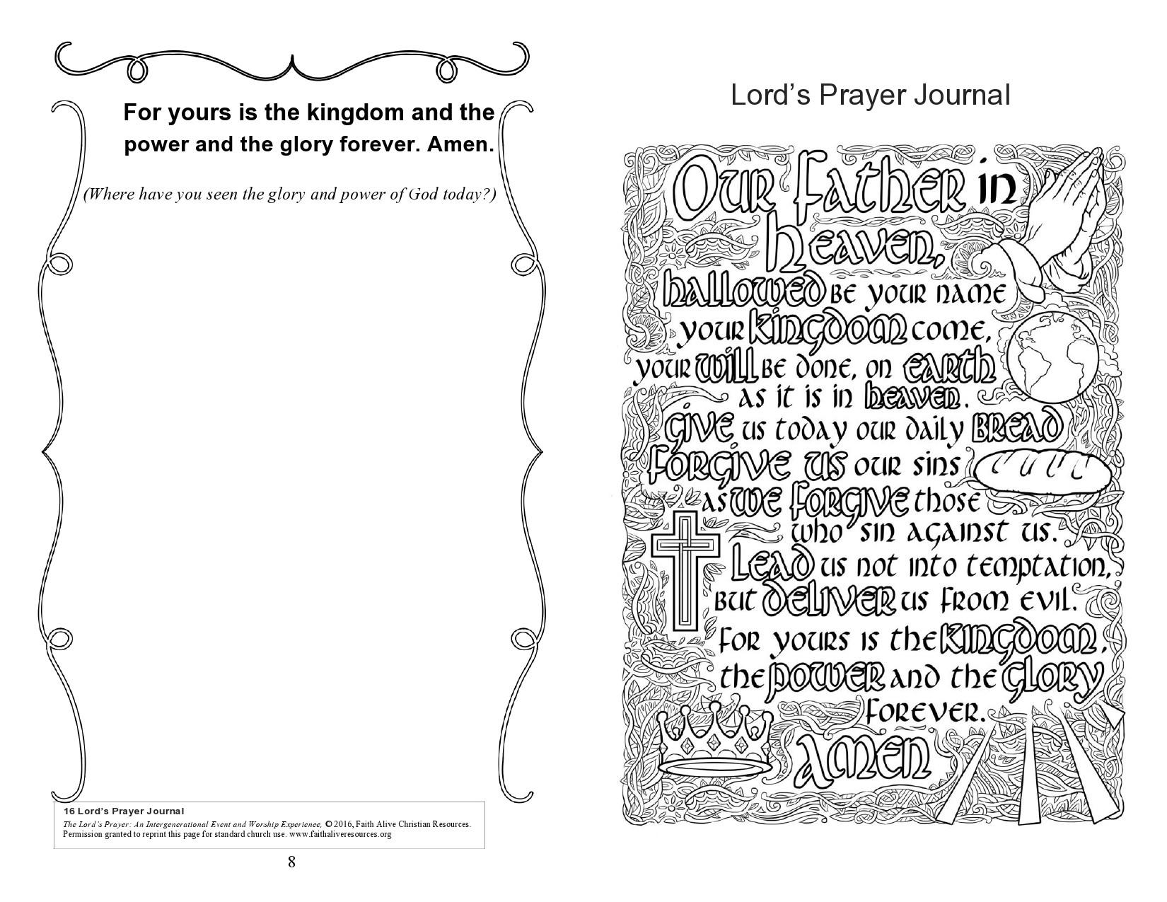 Free prayer journal template 11