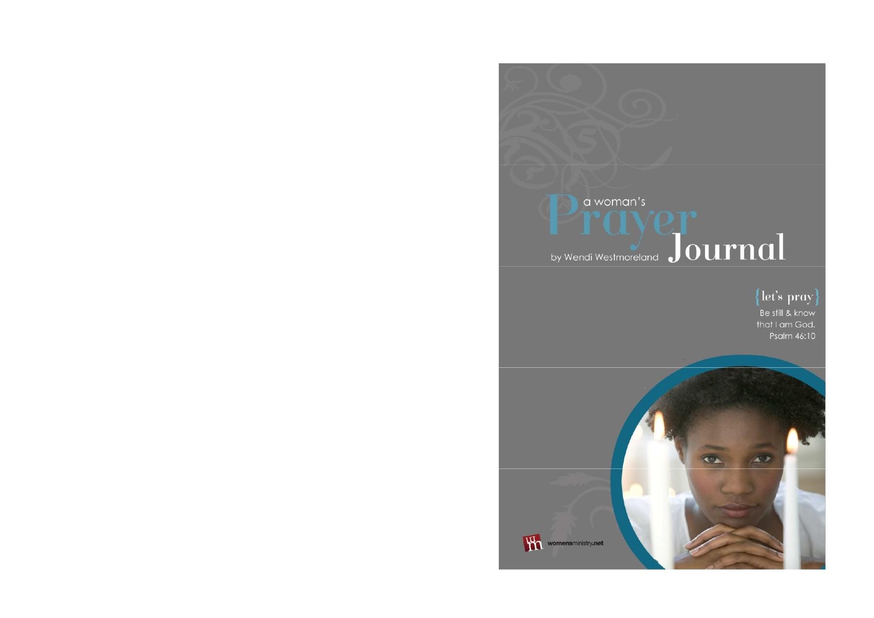 Free prayer journal template 13