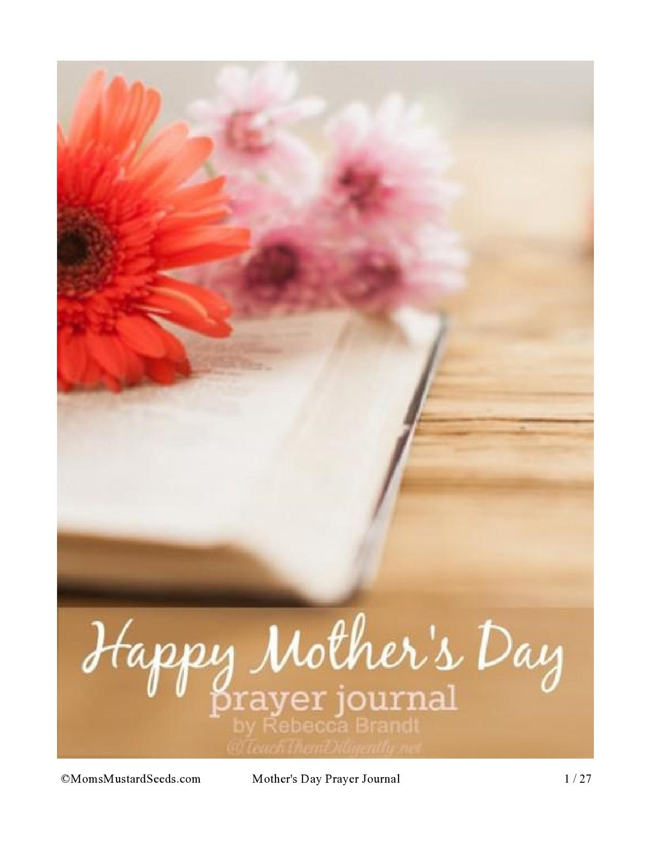 Free prayer journal template 25