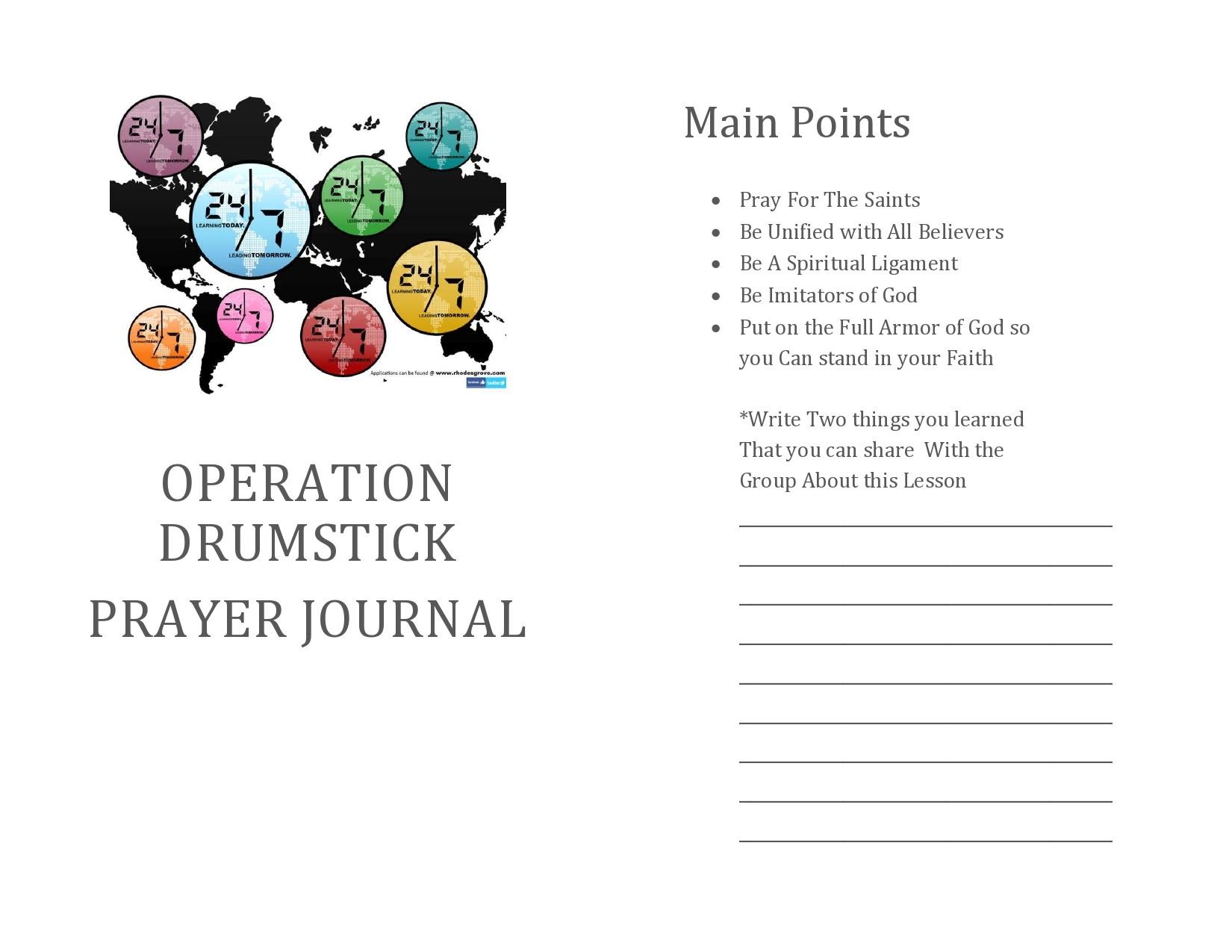 Free prayer journal template 47