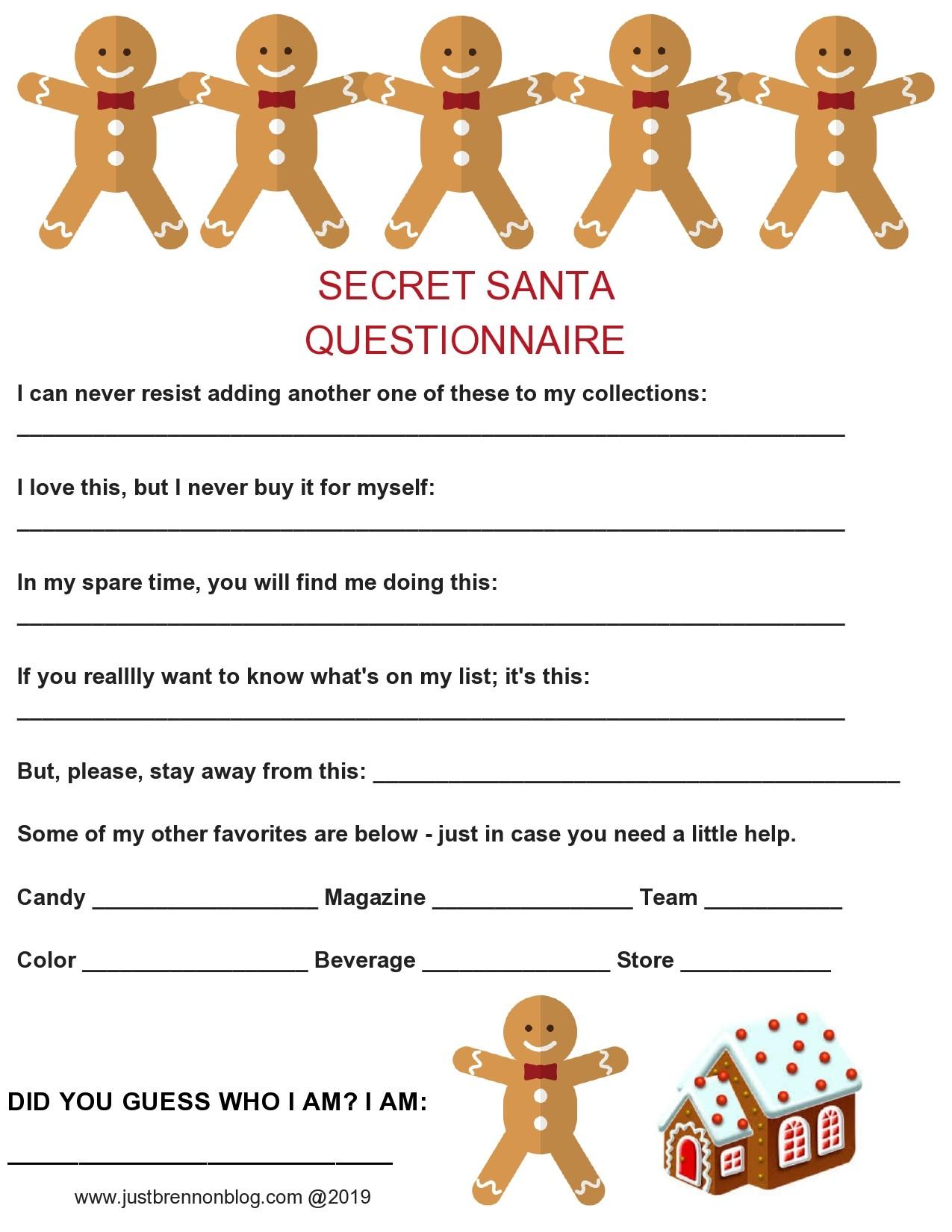 Free secret santa questionnaire 08