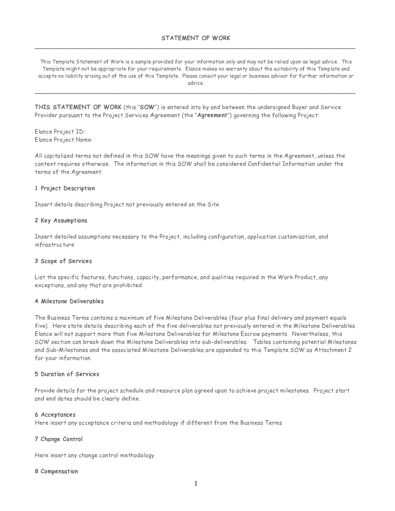 Free statement of work template 02