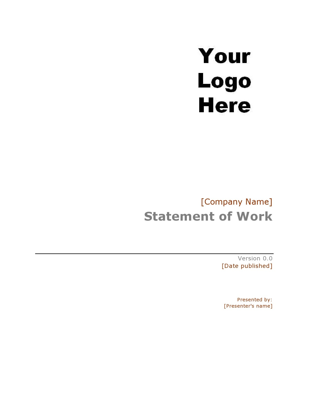 Free statement of work template 03