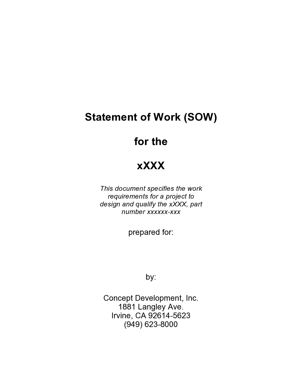 Free statement of work template 05