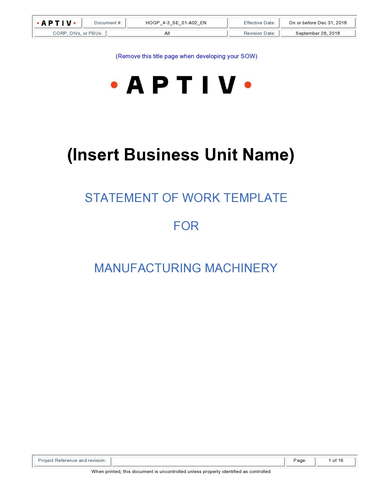Free statement of work template 07