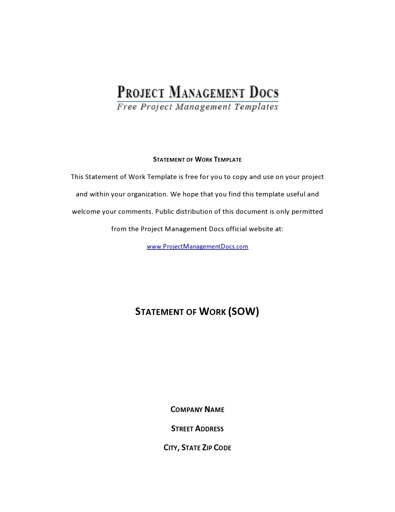 Free statement of work template 08