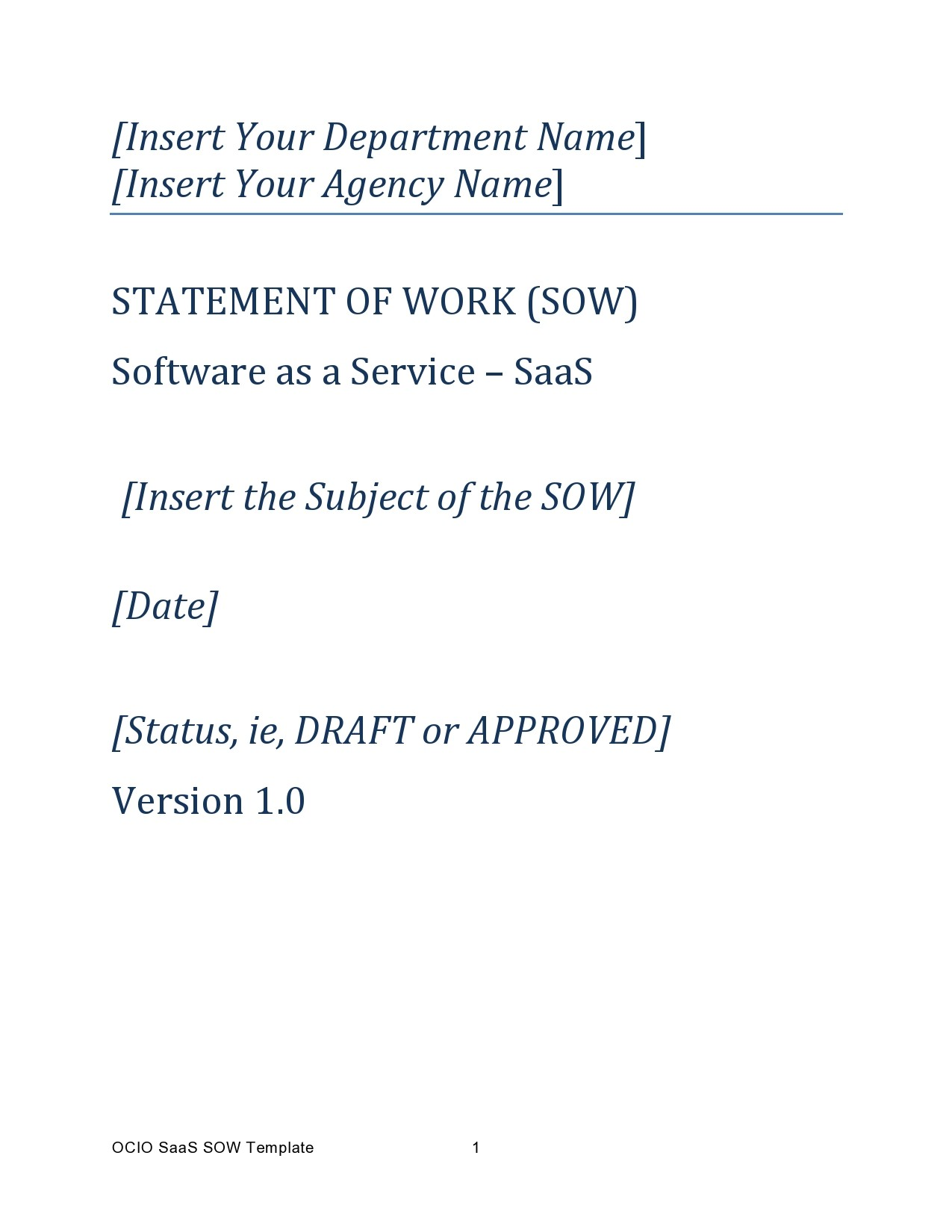 Free statement of work template 11