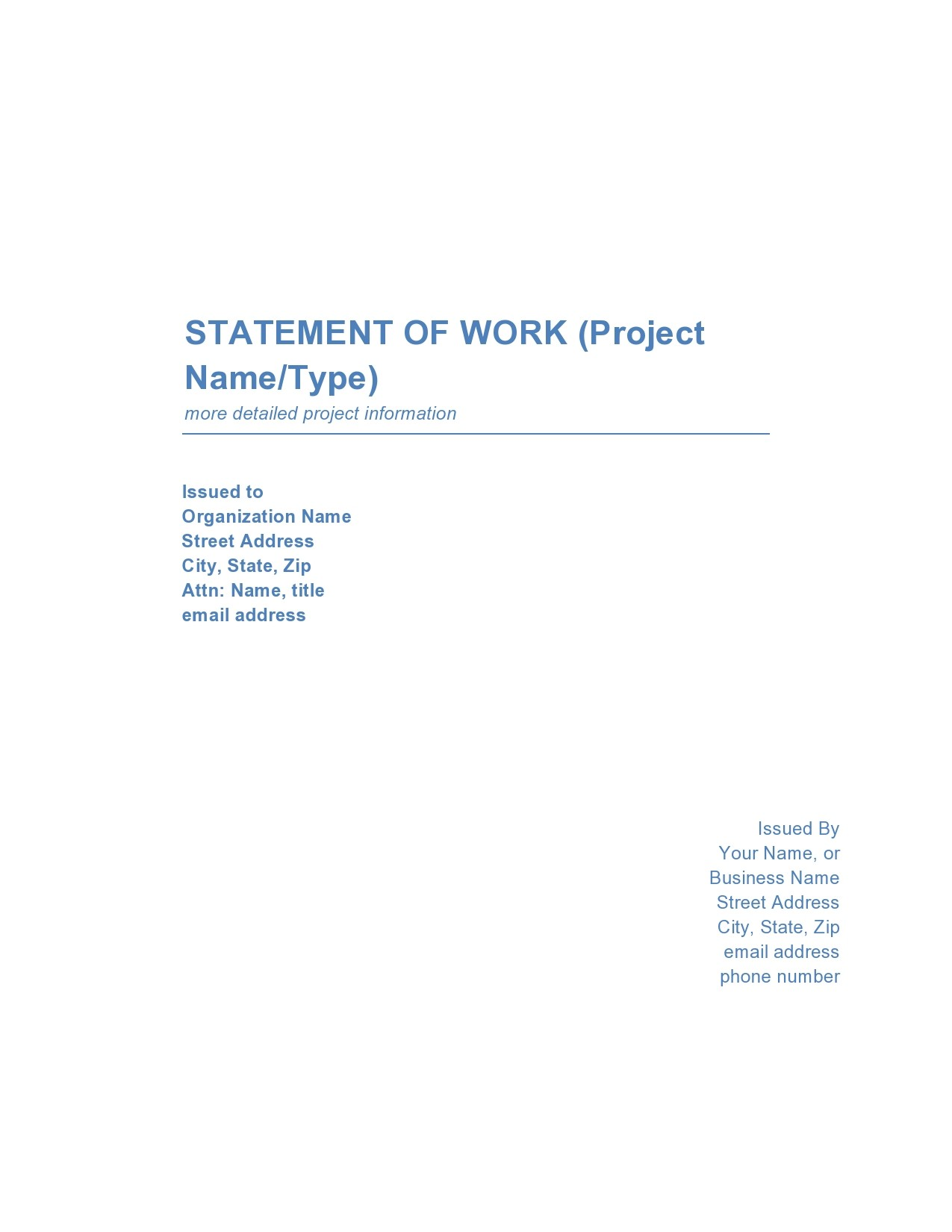 Free statement of work template 15