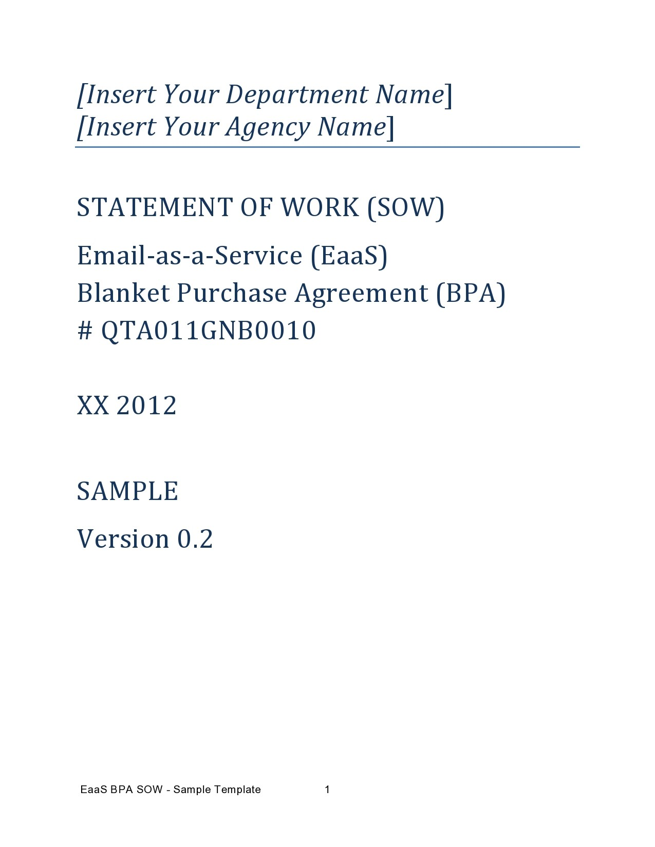 Free statement of work template 18