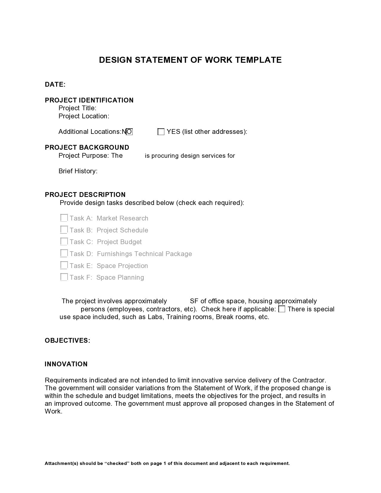 Free statement of work template 22