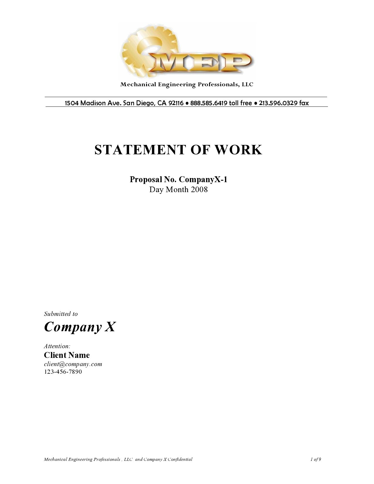 Free statement of work template 23