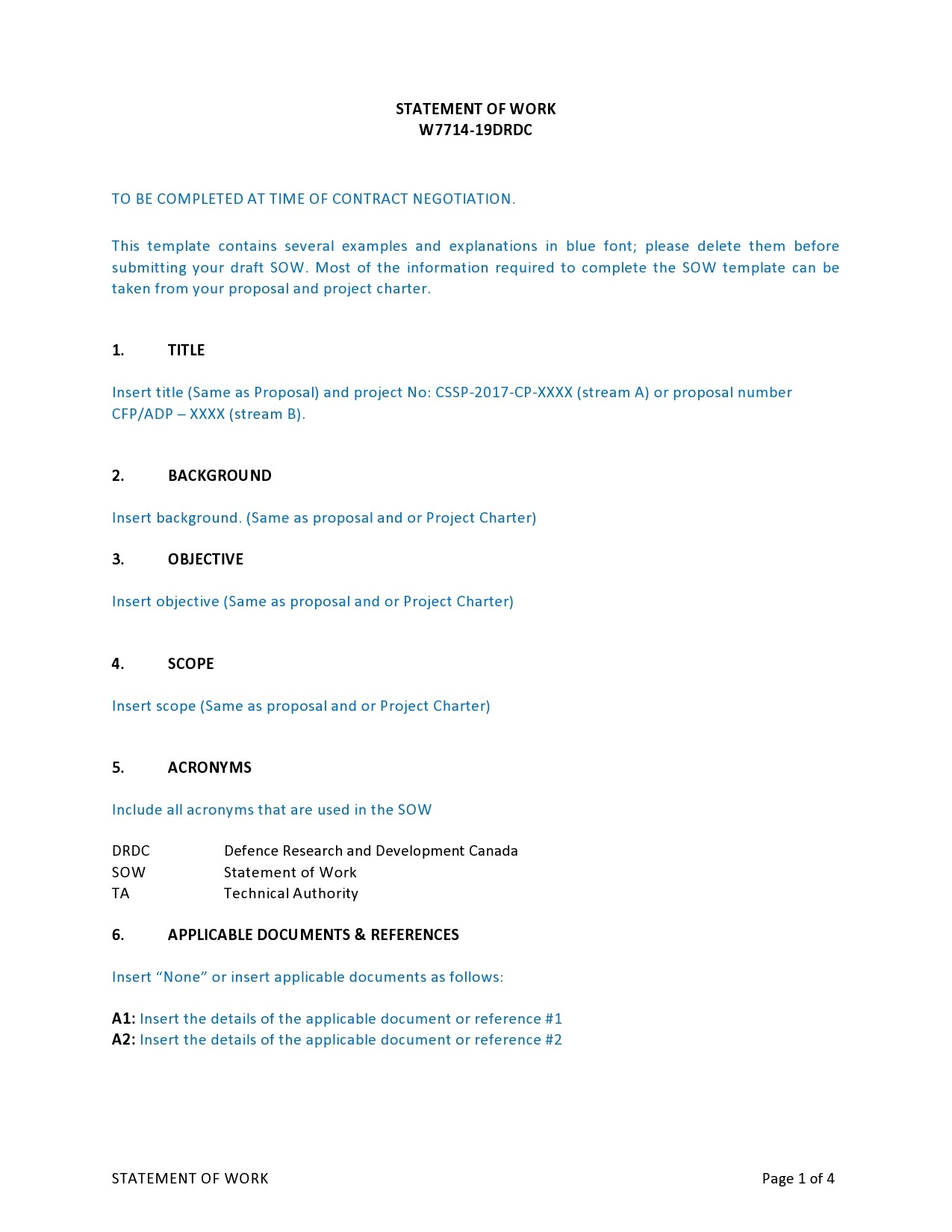 Free statement of work template 29