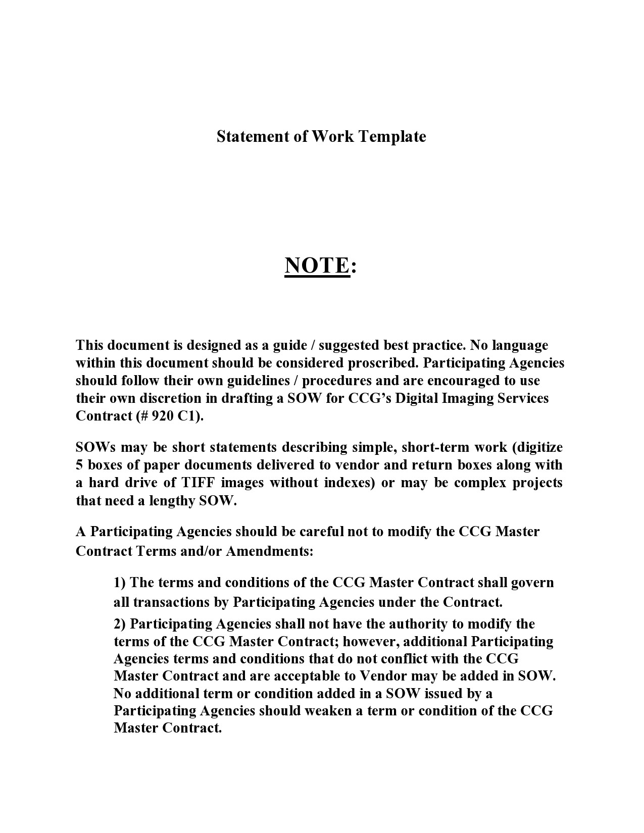 Free statement of work template 30
