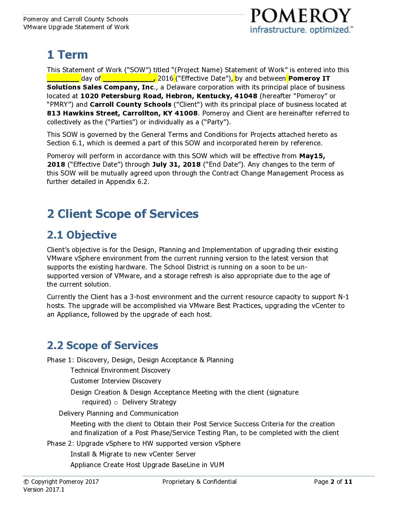 Free statement of work template 37