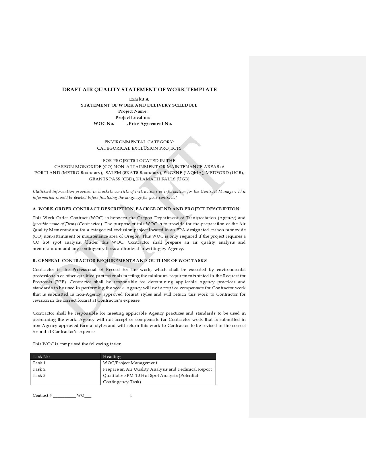 Free statement of work template 40