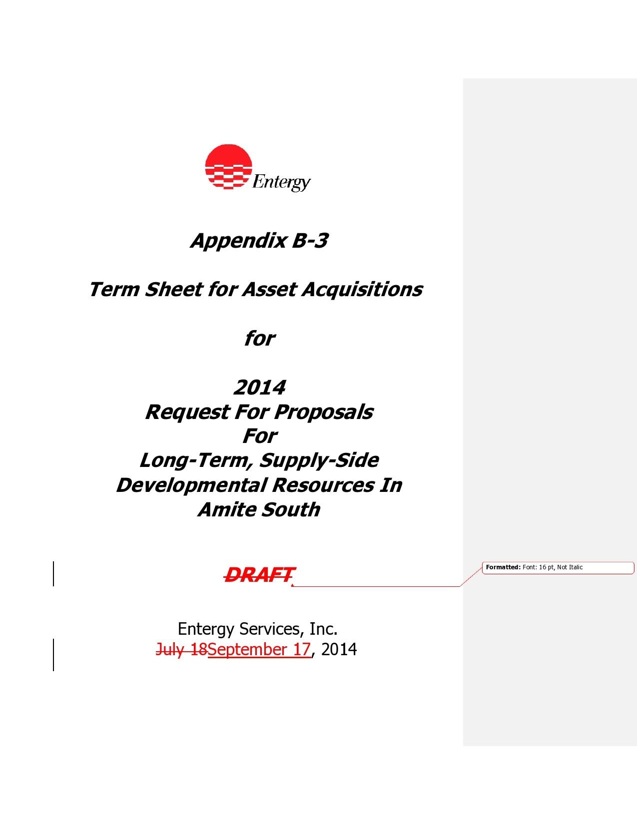 Free term sheet template 15