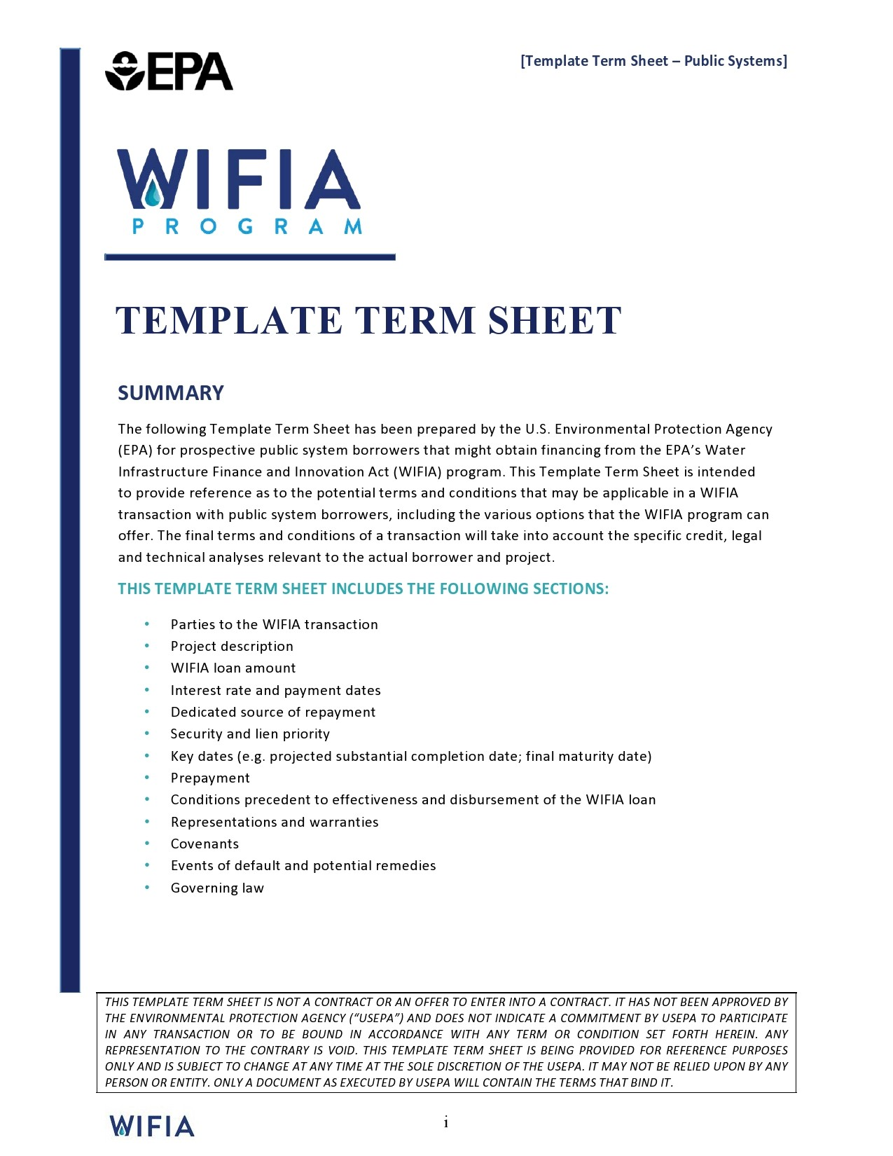 Free term sheet template 29