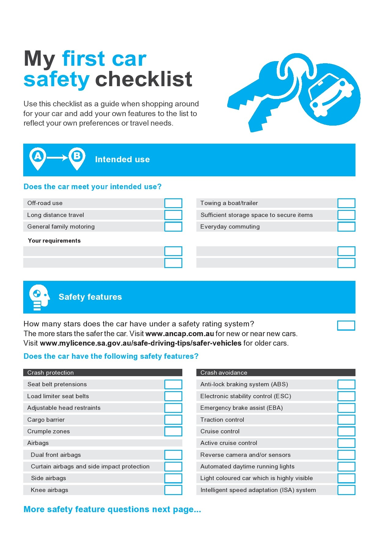 Free vehicle checklist 08