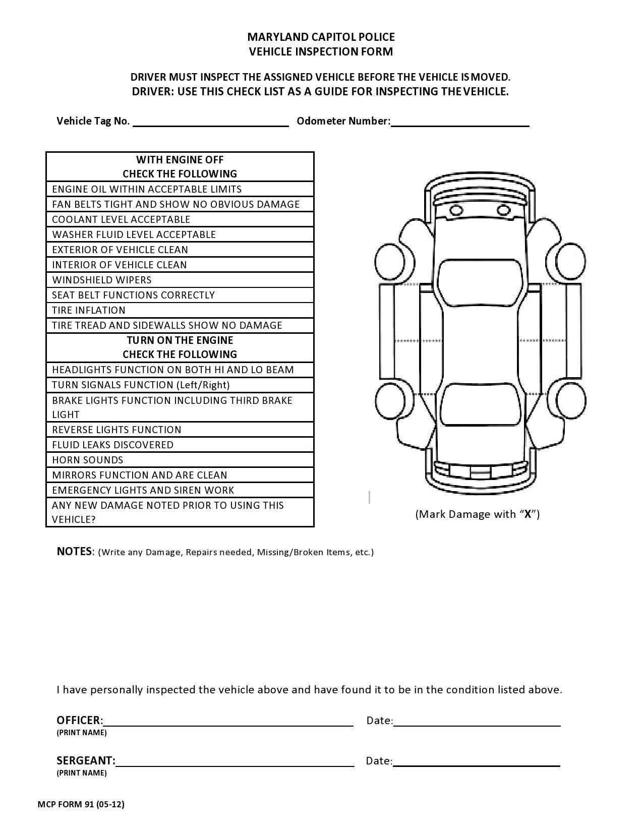 Free vehicle checklist 41