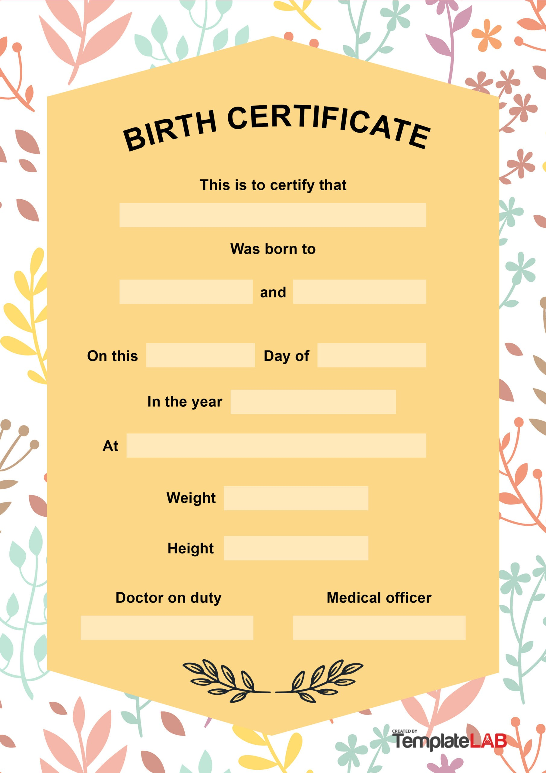 Real Birth Certificate Template from templatelab.com