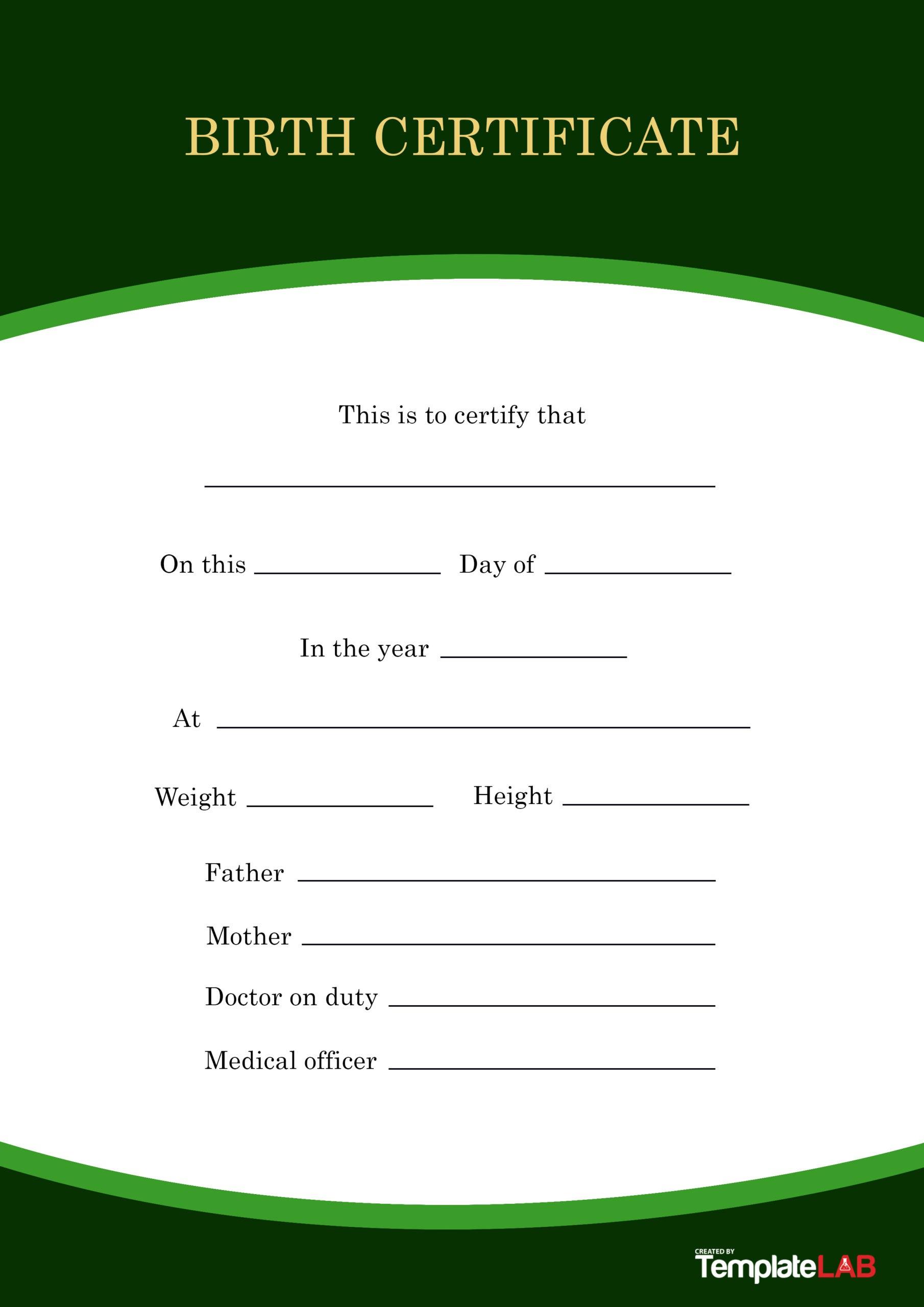 Free Birth Certificate Template 13