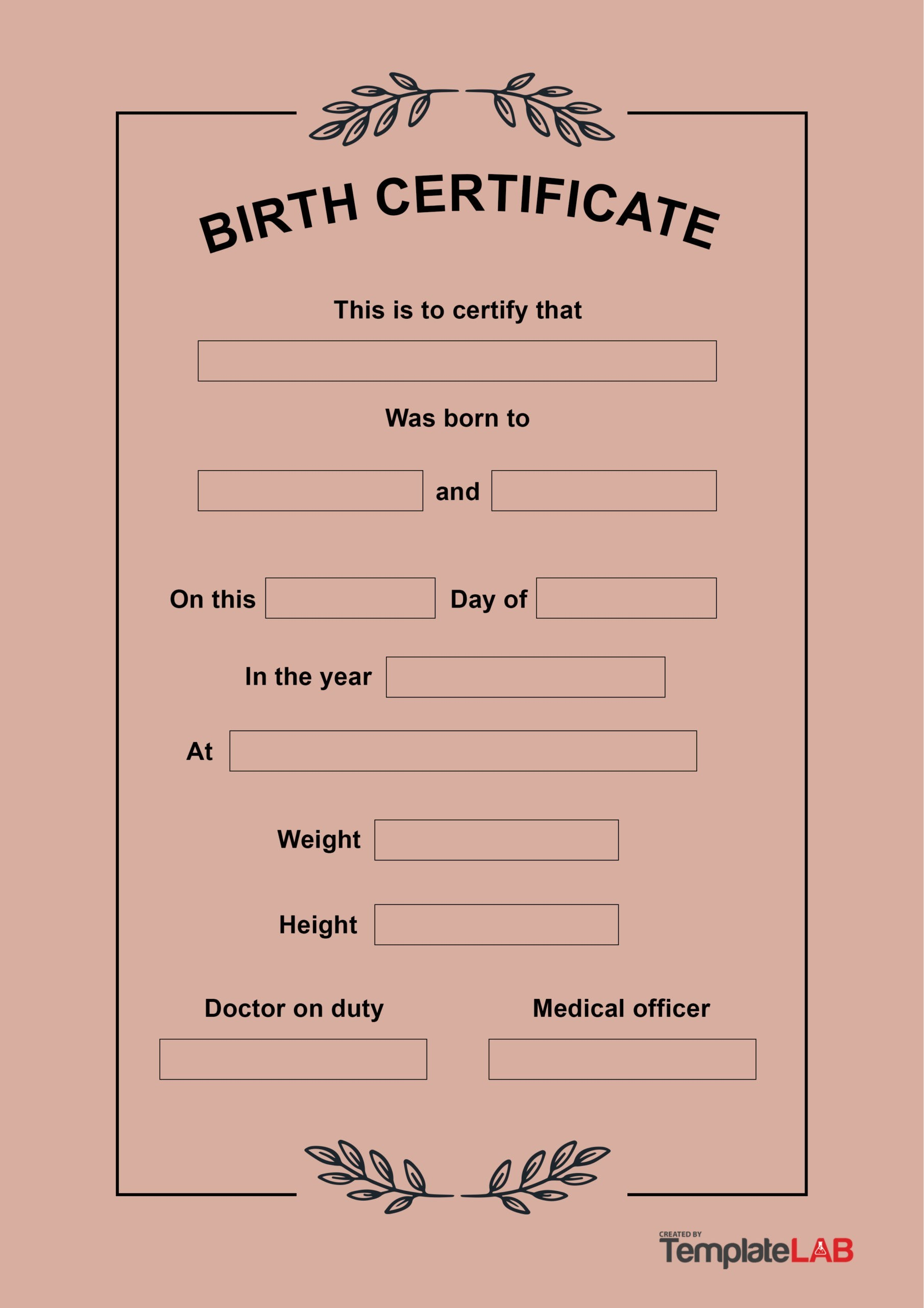 Free Birth Certificate Template 15
