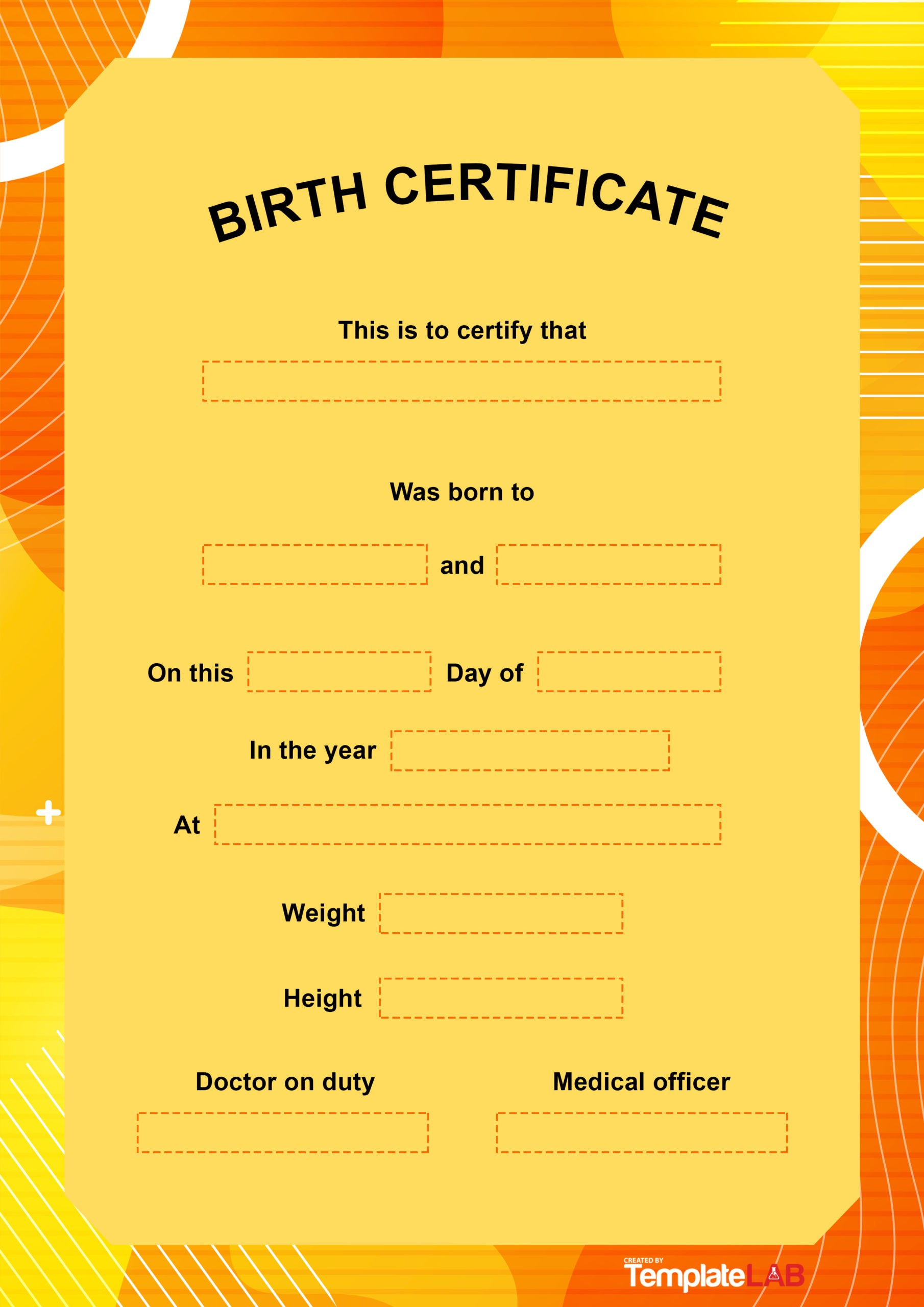 Free Birth Certificate Template 6