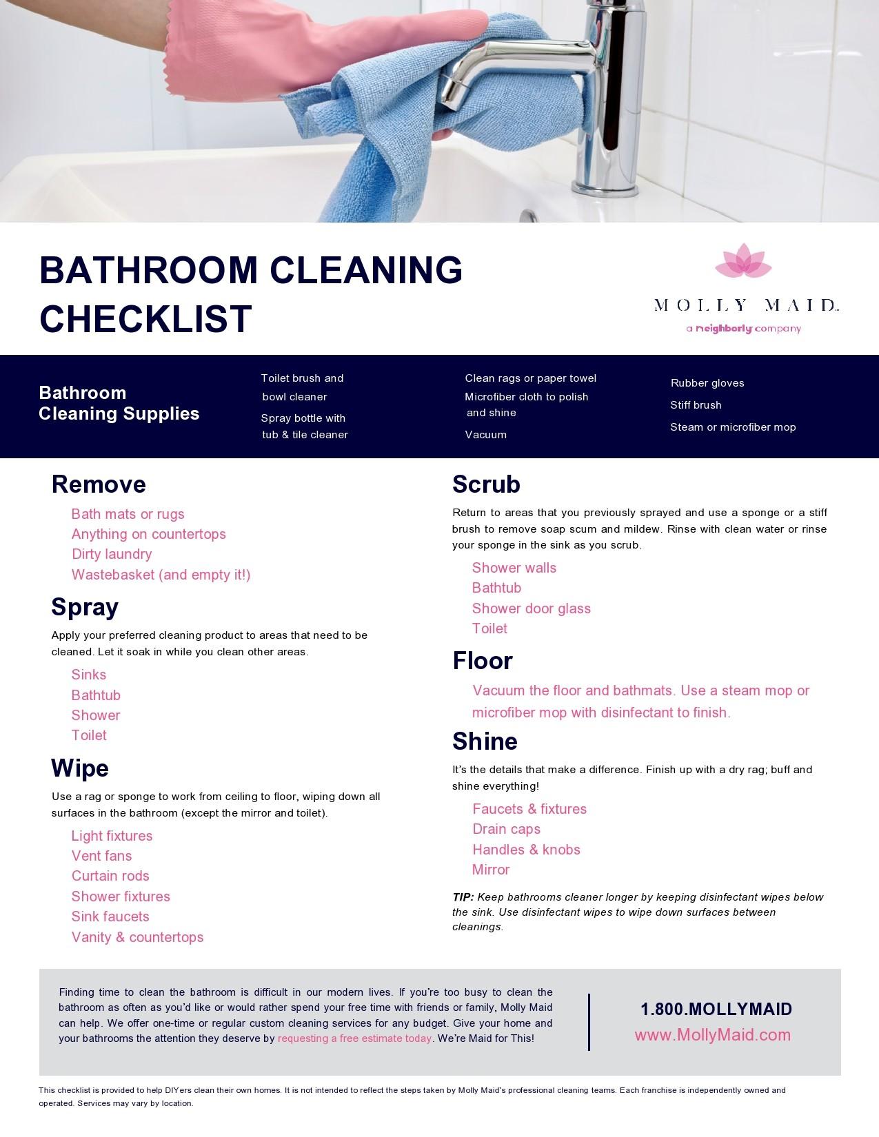 Free bathroom cleaning checklist 05