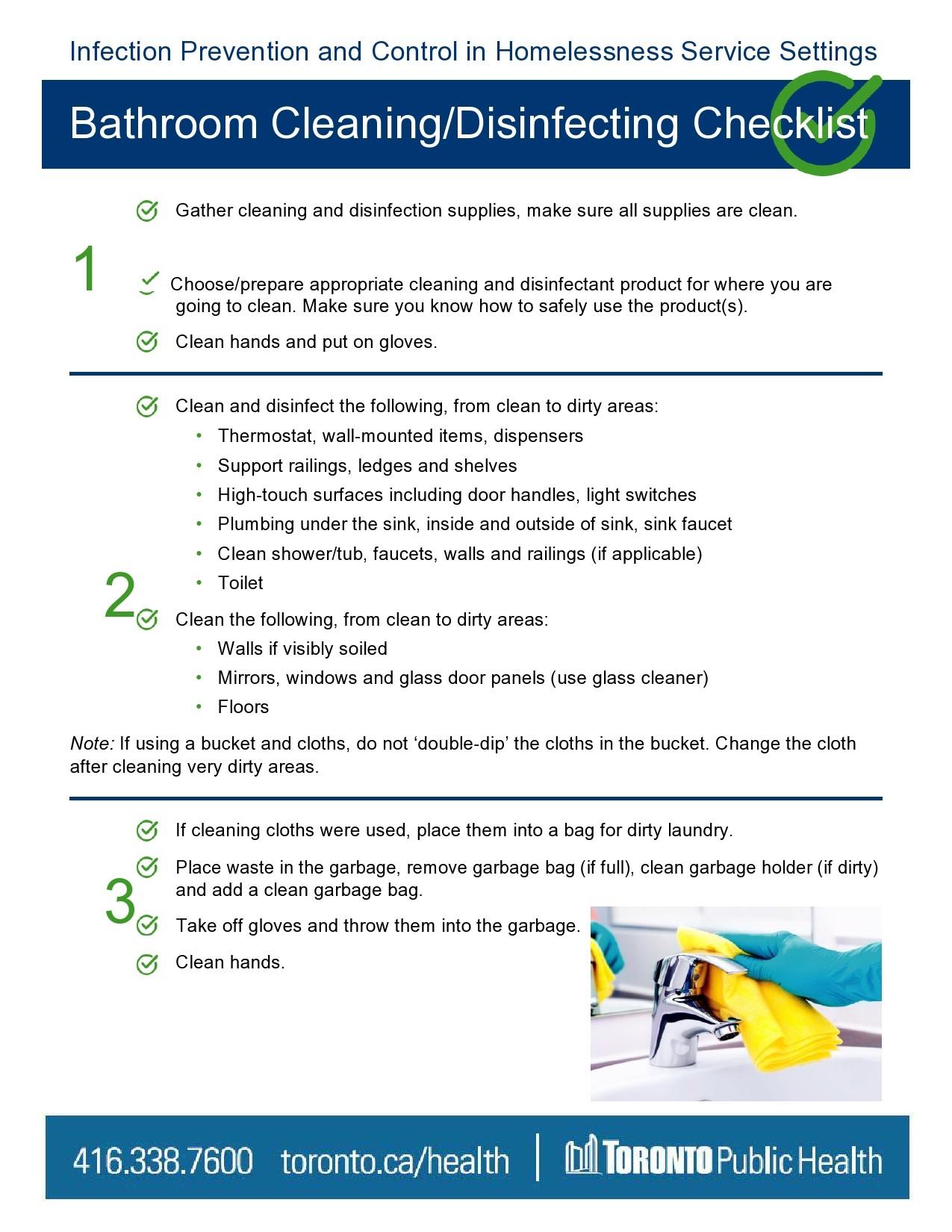 Free bathroom cleaning checklist 14