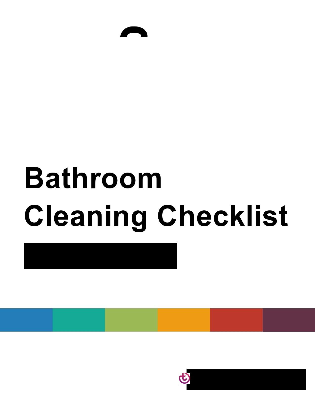 Free bathroom cleaning checklist 25