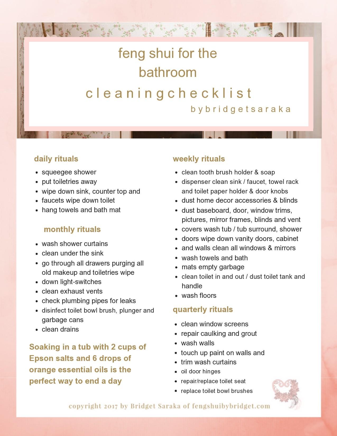 Free bathroom cleaning checklist 27