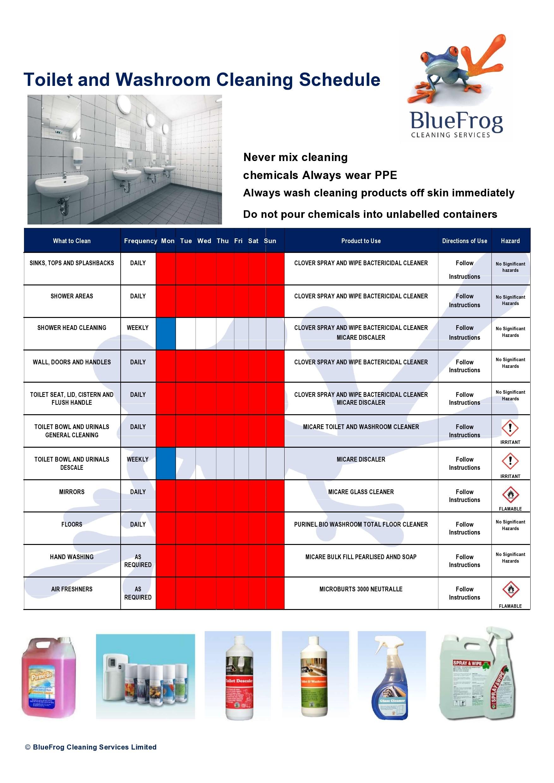 Free bathroom cleaning checklist 45