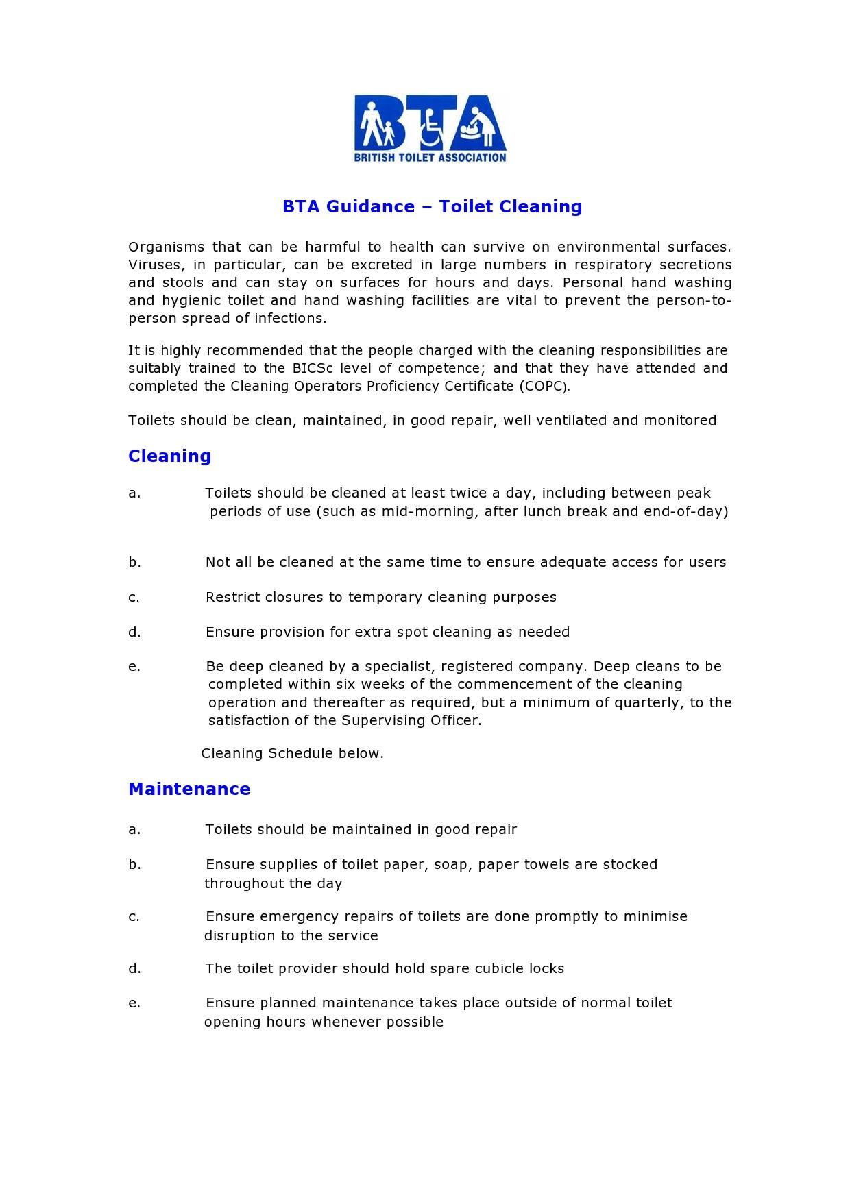 Free bathroom cleaning checklist 47