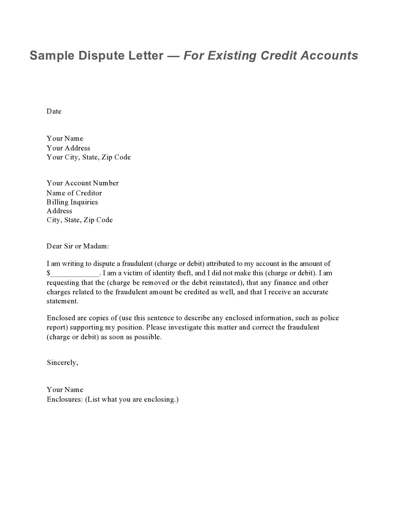 Free credit dispute letter 17